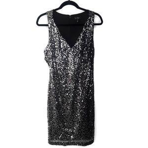 Jessica Simpson Black Silver Dress Size 12 Sequin